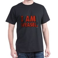 I Am Weasel Logo Dark T-Shirt