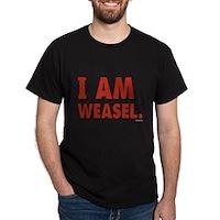 I Am Weasel Logo Dark T-Shirt