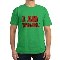 I Am Weasel Logo Men's Fitted T-Shirt (dark)