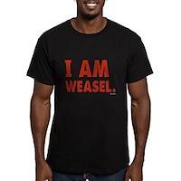 I Am Weasel Logo Men's Fitted T-Shirt (dark)