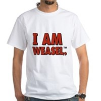 I Am Weasel Logo White T-Shirt