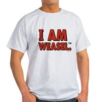 I Am Weasel Logo Light T-Shirt