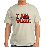 I Am Weasel Logo Light T-Shirt