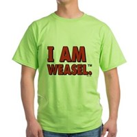 I Am Weasel Logo Green T-Shirt