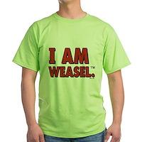 I Am Weasel Logo Green T-Shirt