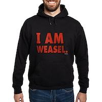 I Am Weasel Logo Hoodie (dark)