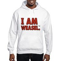 I Am Weasel Logo Hooded Sweatshirt