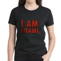 I Am Weasel Logo Women's Dark T-Shirt