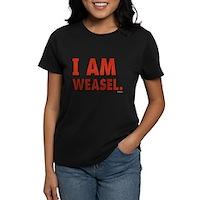 I Am Weasel Logo Women's Dark T-Shirt
