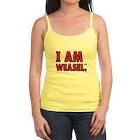 I Am Weasel Logo Jr. Spaghetti Tank