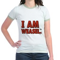 I Am Weasel Logo Jr. Ringer T-Shirt