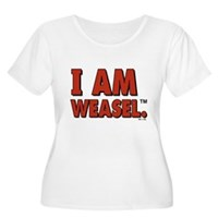I Am Weasel Logo Women's Plus Size Scoop Neck T-Sh