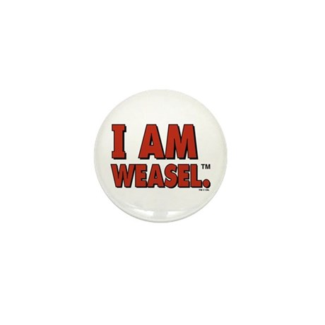 I Am Weasel Logo Mini Button