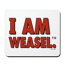 I Am Weasel Logo Mousepad
