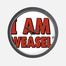 I Am Weasel Logo Wall Clock