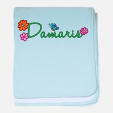 Damaris Flowers baby blanket