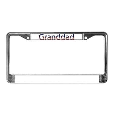 Granddad Stars and Stripes License Plate Frame