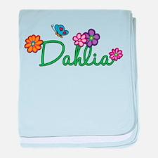 Dahlia Flowers baby blanket