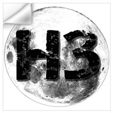 H3 On The Moon Wall Decal