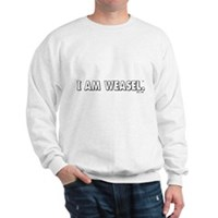 I Am Weasel Logo White Sweatshirt