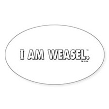 I Am Weasel Logo White Decal