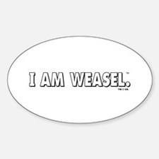 I Am Weasel Logo White Decal