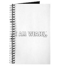 I Am Weasel Logo White Journal