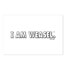 I Am Weasel Logo White Postcards (Package of 8)