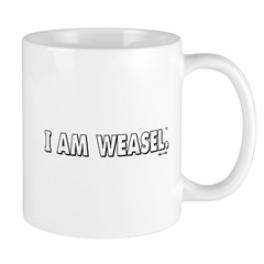 I Am Weasel Logo White Mug