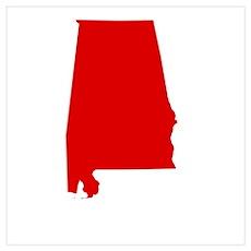 Alabama - Red Poster