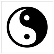 Black and White Yin Yang Bala Poster