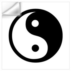 Black and White Yin Yang Bala Wall Decal
