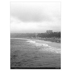 Santa Monica CA Beach Poster