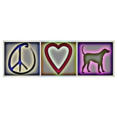 Peace Love Labrador Retrievers Poster