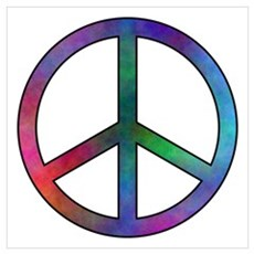 Multicolor Peace Sign Framed Print