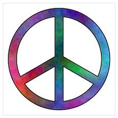 Multicolor Peace Sign Poster