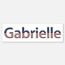 Gabrielle Stars and Stripes Bumper Bumper Bumper Sticker