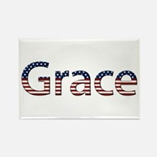 Grace Stars and Stripes Rectangle Magnet