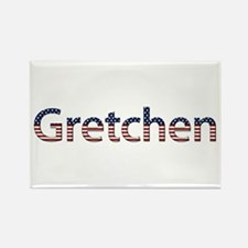 Gretchen Stars and Stripes Rectangle Magnet