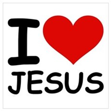 I LOVE JESUS Framed Print