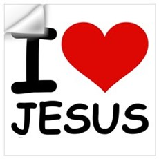 I LOVE JESUS Wall Decal