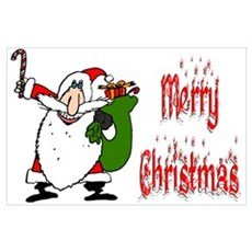 Santa & Toy Bag Poster