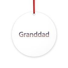 Granddad Stars and Stripes Round Ornament
