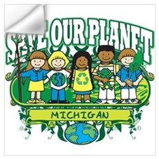 Earth Kids Michigan Wall Decal
