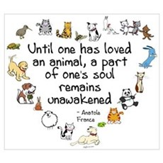 Until One Has Loved An Animal Framed Print
