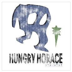 Hungry Horace Distressed Poster