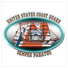 USCG Coast Guard Eagle Poster
