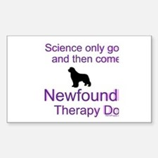 Newfoundland Therapy Dog Sticker (Rectangle)