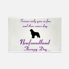 Newfoundland Therapy Dog Rectangle Magnet
