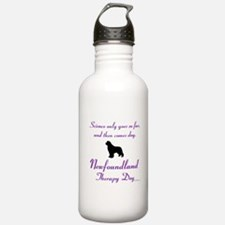 Newfoundland Therapy Dog Water Bottle